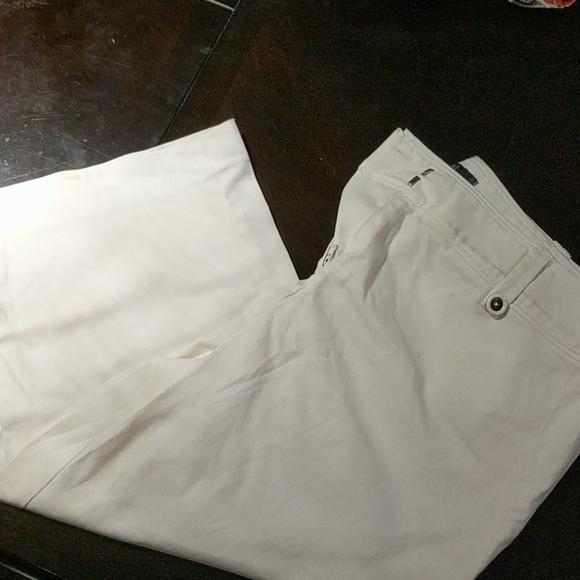 White dress capris (camera flash distored colour)
